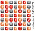 Collection of different icons for using in web design. - stock vector