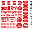 Collection of different sale banners, vector eps10 illustration - stock vector