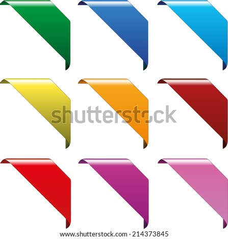 collection of diverent corner mark vector eps10 signs - stock vector