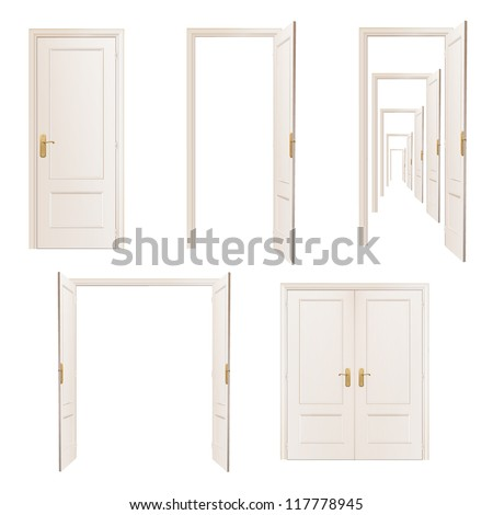 Collection of doors. Vector design. - stock vector