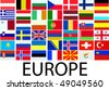 collection of european flags - vector - stock vector