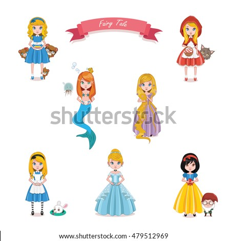 Collection of fairy tale characters