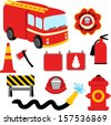 Collection of Firefighter / Fireman Symbols - stock