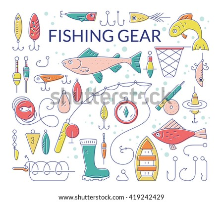 Fishing tackle clipart images for Roy s fishing supply