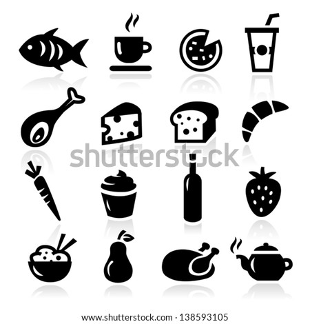 Collection of Food and Cooking Icons - stock vector