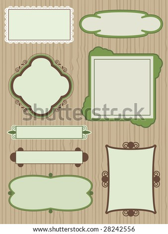 collection of frames with copy space - stock vector