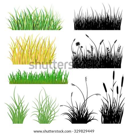 Grass Outline Vector Grass Outline S...