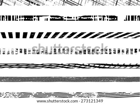 Collection of grunge borders - stock vector