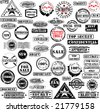 Collection of grunge rubber stamps. See other rubber stamp collections in my portfolio. Non grunge version - see picture ID 17138866 - stock vector