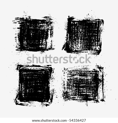 Collection of grunge textures. - stock vector