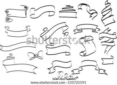 Collection Hand Drawn Vintage Frame Text Stock Photo (Photo, Vector ...