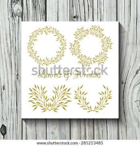 Vector watercolor colorful circular floral wreaths stock Collect and save