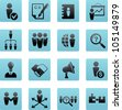 collection of human resources icons - stock photo