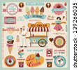 Collection of Ice Cream Design Elements.Vector Illustration - stock photo