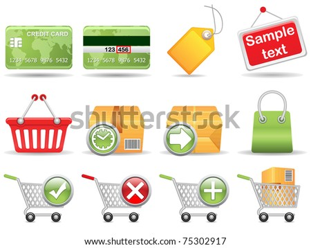 Collection of icons for online store. Vector EPS 8. - stock vector