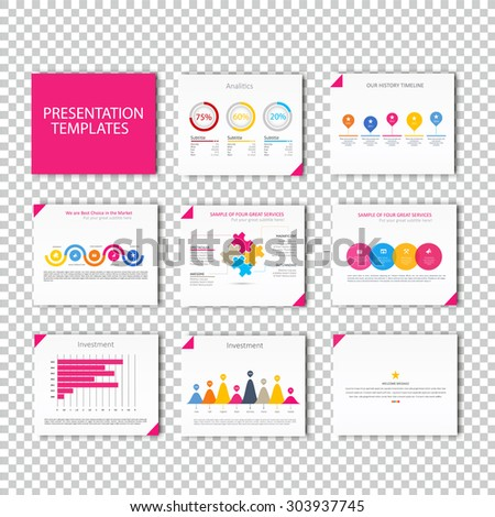 Collection of infographic Template , Infographic Element , Business infographic , Layout design , Modern Style , Vector design illustration. Pink version - stock vector