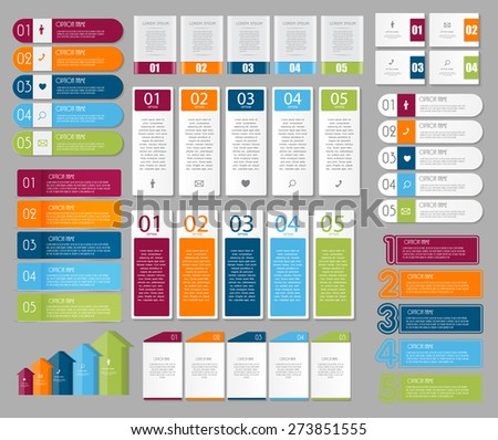 Collection of Infographic Templates for Business Vector Illustration EPS10 - stock vector
