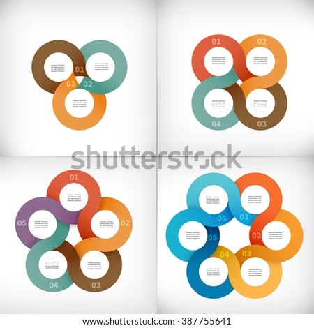 Collection of infographics design elements for presentations, brochures, web designs, banners - stock vector