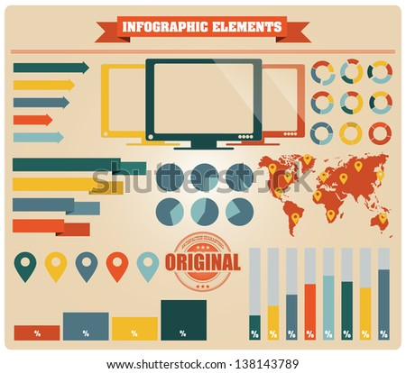 Collection of infographics elements