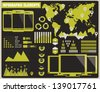 Collection of infographics elements, vector - stock vector