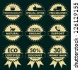 Collection of labels - for sellers. Vector eps8 - stock vector