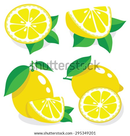 Collection of lemons vector illustrations - stock vector
