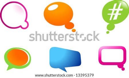 collection of logo and icons of balloons web2.0 , vector file - stock vector