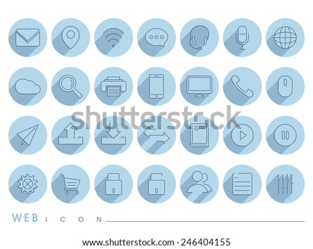 Collection of mail and networking icons for your business. - stock vector