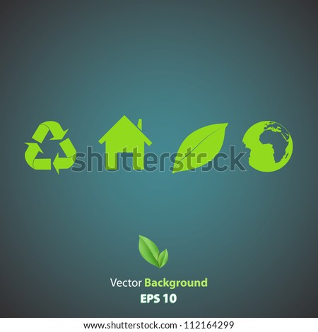 Collection of many ecological icons. Vector design. - stock vector