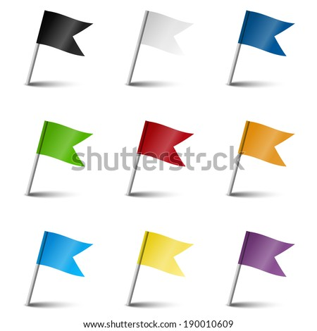 Collection of marking accessories - marking flags - stock vector