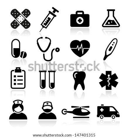 Collection of medical icons - stock vector