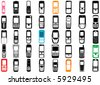 collection of mobile phone vector - stock photo