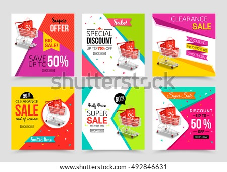 Sale banner stock images royalty free images vectors shutterstock collection of modern sale banner template vector illustrations pronofoot35fo Choice Image