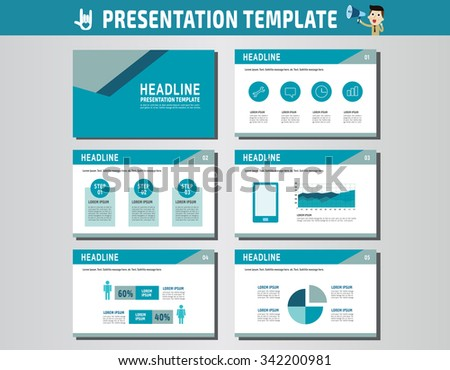 collection of multipurpose presentation template.icons Infographic element.company advert marketing concept.abstract blue flyer layoutbrochure modern style.flat leaflet illustration. - stock vector