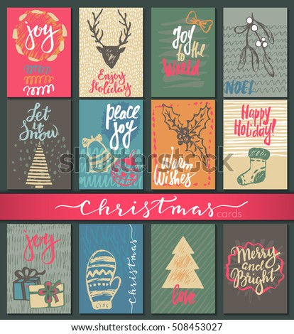Collection nine christmas cards greeting card stock photo photo collection nine christmas cards greeting card stock photo photo vector illustration 508453027 shutterstock m4hsunfo Images