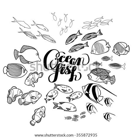 Fish Drawing Stock Photos, Royalty-Free Images & Vectors ...