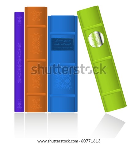 Collection of old retro books. Vector Illustration. EPS8. - stock vector