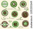 Collection of organic labels and icons - stock vector