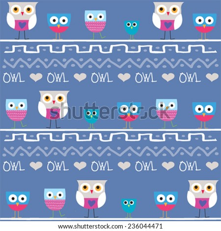 collection of owl vector illustration - stock vector
