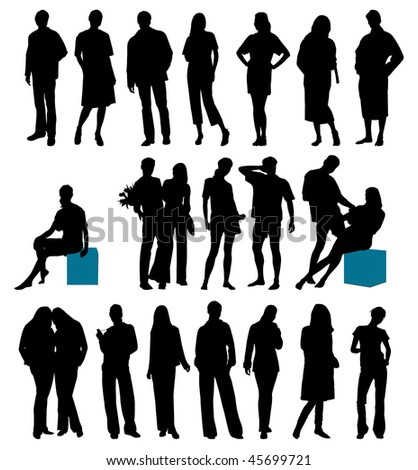Collection of people. This image is a vector illustration and can be scaled to any size without loss of resolution - stock vector