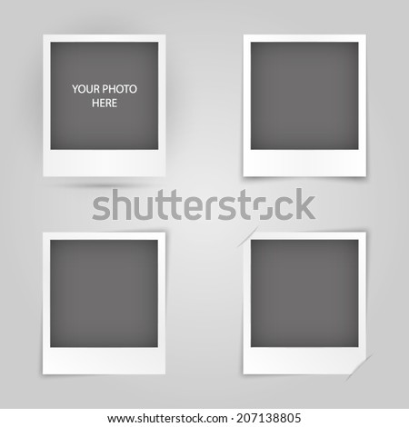 Collection of photo frame - stock vector