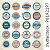 Collection of Premium and High Quality labels - stock vector