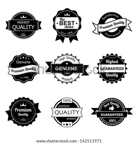 Collection of premium quality vintage labels eps8