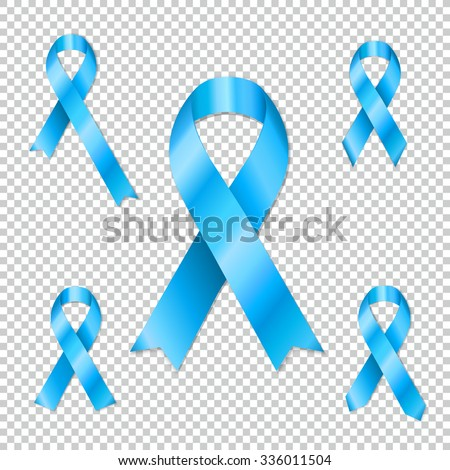 Collection Prostate Cancer Ribbon Awareness Collection Stock Vector
