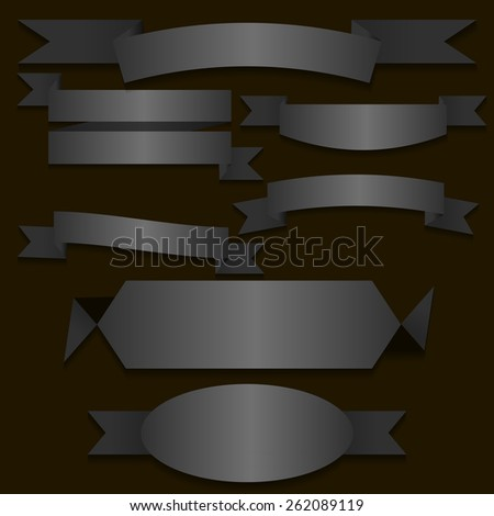 Collection of Retro Ribbons Banners for your Business - stock vector