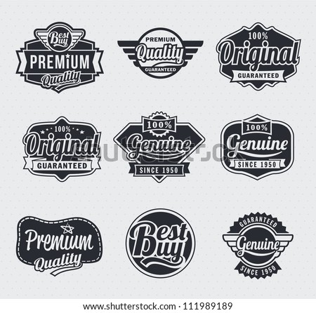 Collection of Retro Vintage style vector labels - stock vector