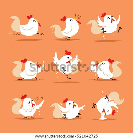 Collection of rooster - set 3