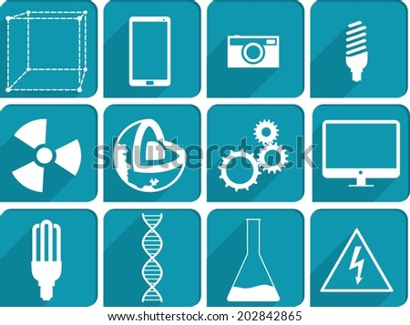 Collection of Science icons - stock vector