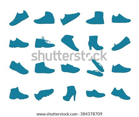 Collection of shoes - stock vector