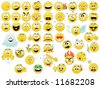 Collection of smiles - stock photo